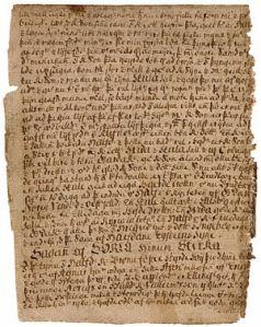 Sörla saga sterka, manuscript F. 8v of Rask 32 (18th century).