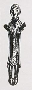 Metal figur of Christian priest