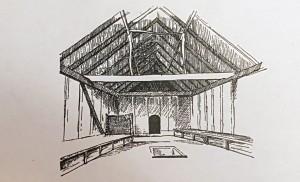 Northumbrian Age King's Hall interior