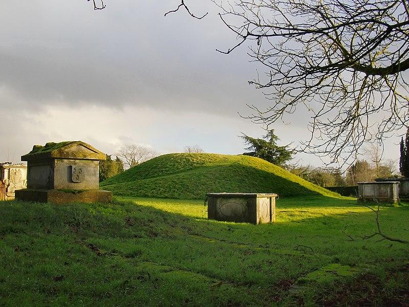 Taeppas Mound in the old churchyard, Taplow