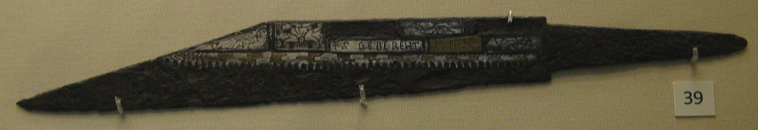 Broken-back seax from Sittingbourne in Kent.