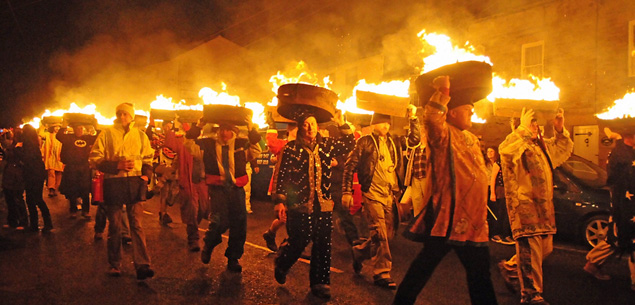 Burning Tar Barrels