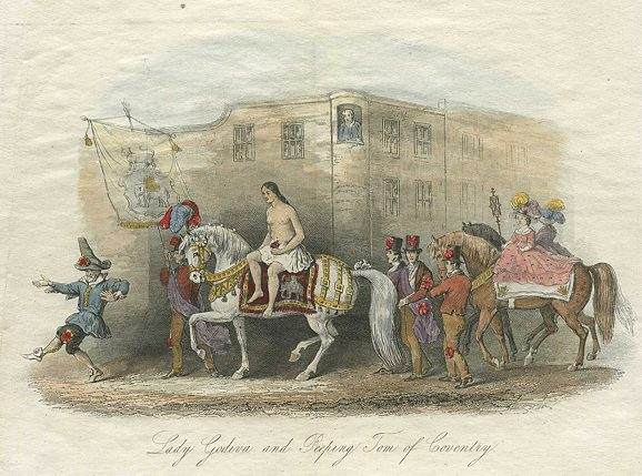 Coventry, Lady Godiva and Peeping Tom, 1852.