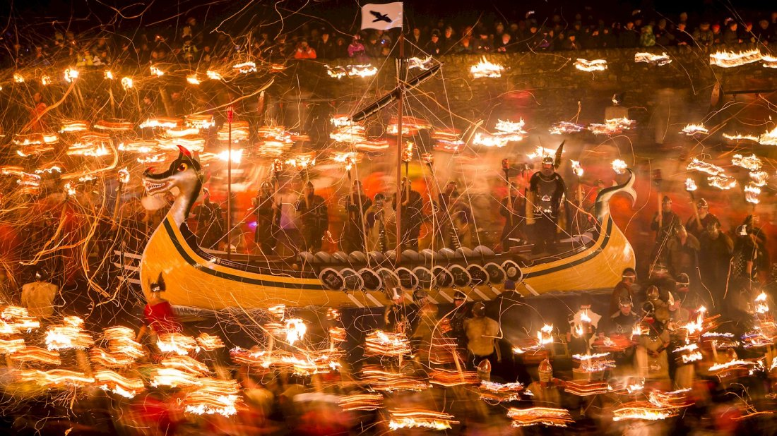 The Up Helly Aa Torchlit Procession