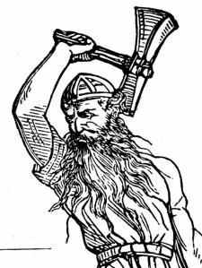 Thor woodcut
