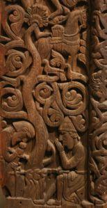 Serpent Worship on Stave Church portal, Hylestad Norway c. 1175