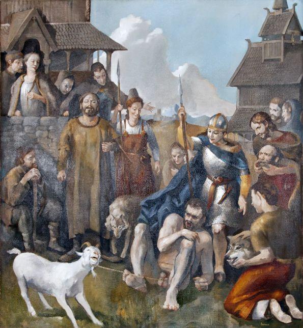 Loki tied his nutsack to a nanny goat