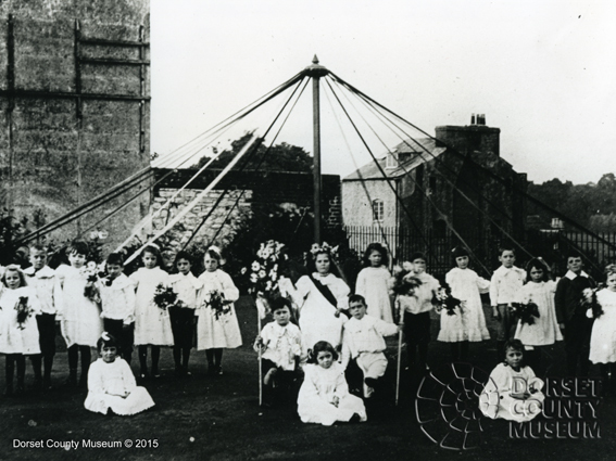 May Queen and Maypole , The Keep, Dorchester 1845